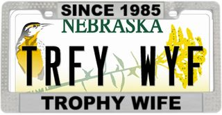 Trophy wife plate and frame